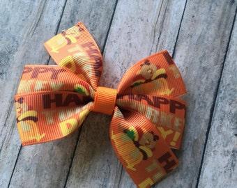 Turkey Day Pinwheel Bow
