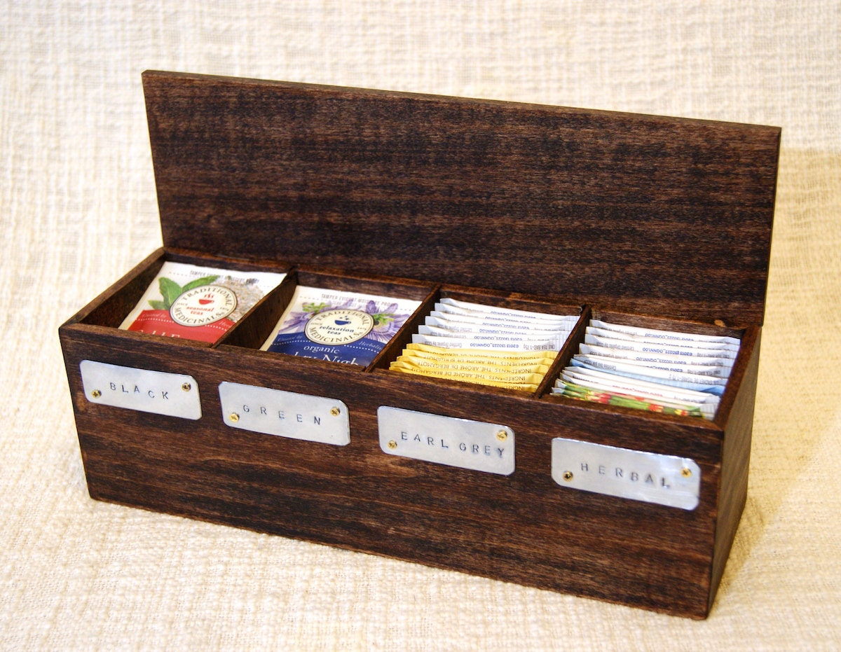 tea box tea chest wooden tea box tea storage tea bag box