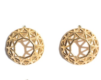 Brilliant cut diamond earrings | studs