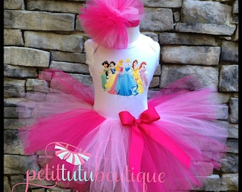 Disney Princess Birthday Tutu set any size available 12m to 10y FREE Headband