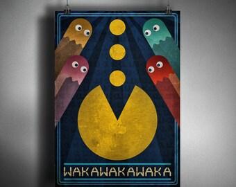 Pac-Man Art Deco Style Art
