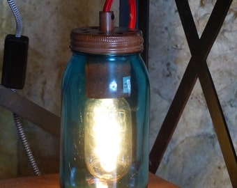Jam Mason Jar Table Desk Lamps  Quirky gifts for kids