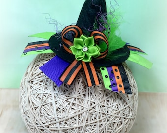 Witch Hat Hair Clip, Witch Hat Headband, Witch Hat Clip, Witch Clippie, Witch Hair Clip, Halloween Hair Clip, Halloween Bow, Over the Top