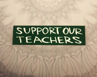 Support Our Teachers Outdoor Magnet
