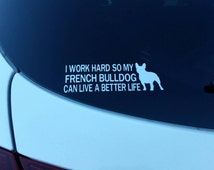 French bulldog decal, dog lover decal, dog, cat, car decal, frenchie mom, dog mom, dog dad, dog lover decal, Christmas gift, birthday gift