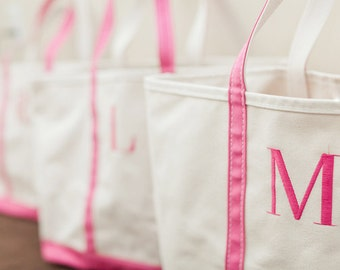 Bridesmaid Tote Bags Personalized Tote, Bridesmaids Gift, Monogrammed Tote, Embroidered Tote, Wedding Totes, Beach Tote