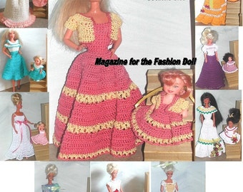 Crochet Fashion Doll Barbie & Kelly  Pattern- #503 MOTHER DAUGHTER MAGAZINE