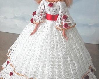 Crochet Fashion Doll Barbie Pattern- #626 SOUTHERN DESIGN #9