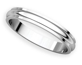 3mm Half Round Edge Platinum 950 Wedding Band