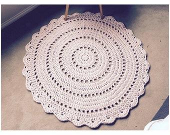 Handmade Crochet Floor Rug - Doily