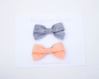 Mini Felt Sailor Bow, Felt Bow-Choose 2, Felt Sailor Bow
