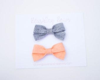 Mini Felt Sailor Bow, Felt Bow-Choose 2, Felt Sailor Bow