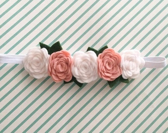 Felt Flower Headband, felt flower crown