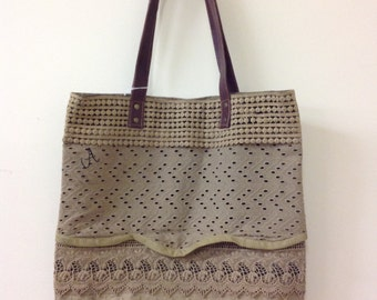 Newest and cutest recycled canvas bag!!!! Ready to monogram!!!