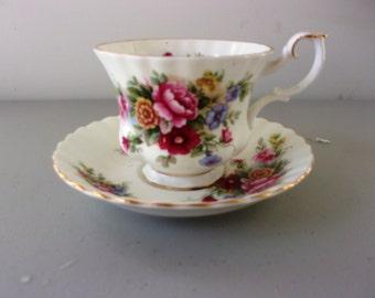 Vintage Royal Albert Tea Cup & Saucer - Chelsea Garden - Mint