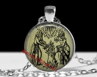 Witch pendant, witch jewelry, witch necklace, Salem, witchy necklace, occult pendant, magic jewelry, magic pendant, occult jewelry 3182