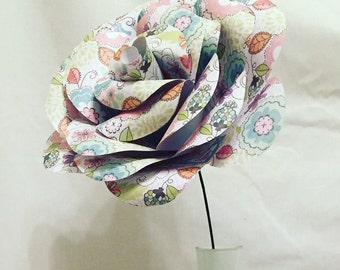 Giant paper rose, giant paper flower, paper rose, wedding centrepiece, wedding flowers, paper flowers, home decor, wedding decor