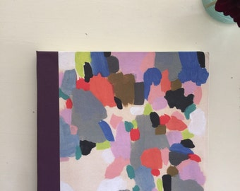 Abstract Watercolor Sketchbook, Plum binding