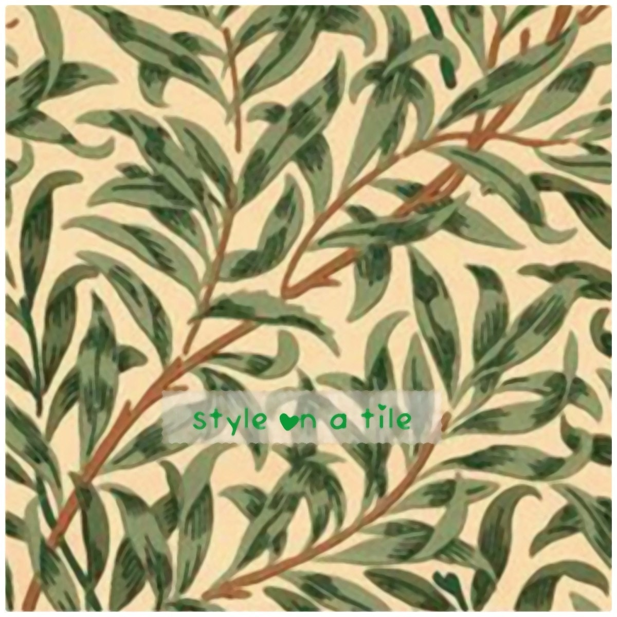 Lovely william morris green willow bough design b 6152mm ceramic gallery photo dailygadgetfo Images