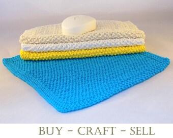 Knitting Pattern - Dishcloths/Washcloths - Instant Download - Seed Stitch Design