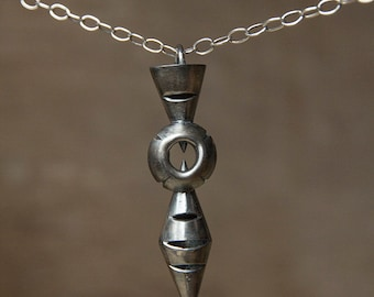 hand made 925 silver Urban statement pendant pendel