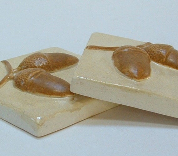 Acorn Kitchen And Bath: Set Of Two 3 Inch Acorn Tiles For Fireplace Kitchen And Bath