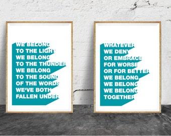 We Belong - Pat Benatar Lyrics - Art Print