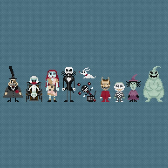 The Nightmare Before Christmas Cross Stitch By