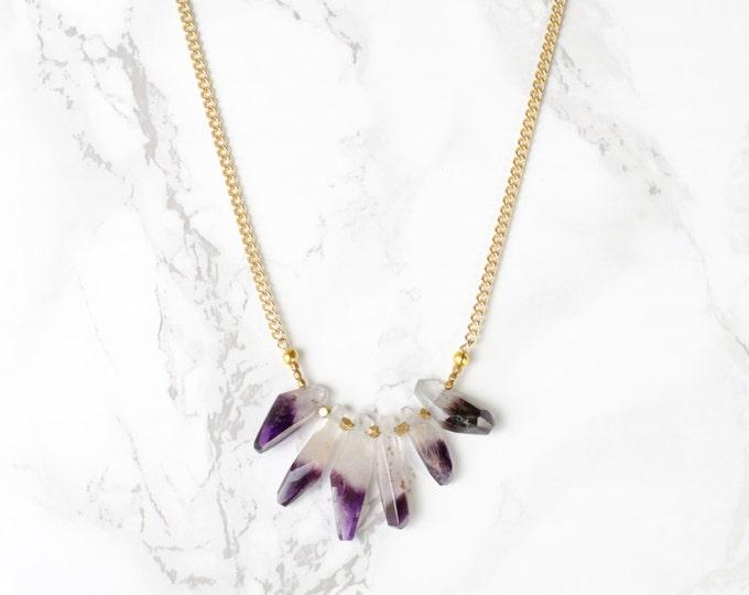 Golden Amethyst Necklace