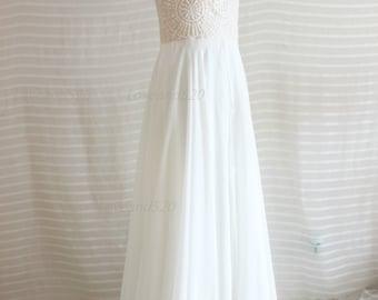 Embroidery Long chiffon bridesmaid dress,champagne beads wedding dress,long evening dress prom dress,chiffon party dress, long chiffon dress