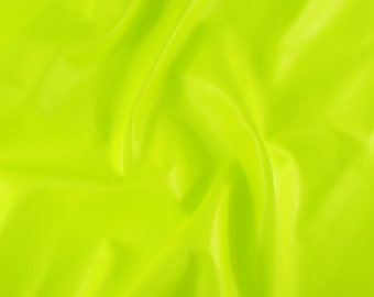 "7.2 sqft Neon Fluorescent Electric Lime Yellow Lamb Skin Leather Hide for DIY bag, shoes, upholstery, size 44"" x 28"""