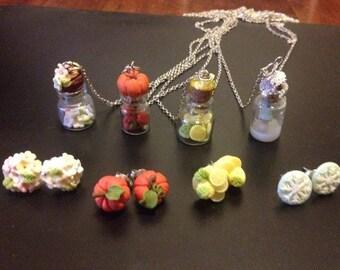 Polymer clay - Spring / Summer /Autumn / Winter Season Set -