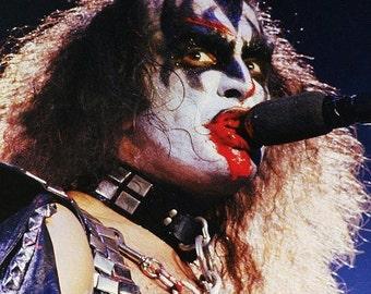 Original Kiss digital file  The Demon Gene Simmons