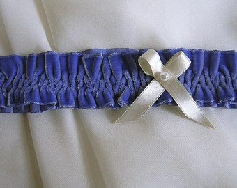 Blue garter velvet * wedding gift bridal wedding