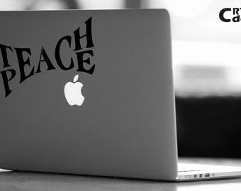 Teach Peace Banksy Vinyl Decal - Spirit Decal - Laptop Decal - Vinyl Ipad Decal - Computer Decal - Computer Sticker - Peace Sticker