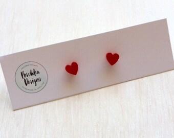 Mini love heart earrings
