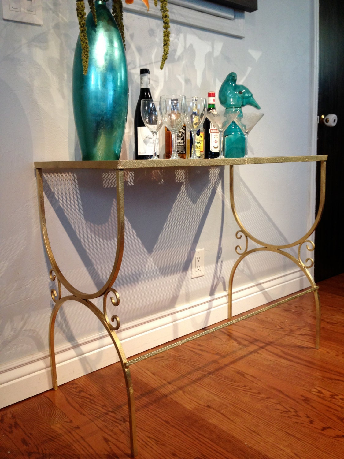 Vintage console table bar haute juice - Tables hautes bar ...