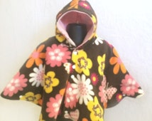 Baby Shower Gift - Infant Car Seat Poncho - Toddler Car Seat Poncho - Baby Car Seat Poncho - Hooded Car Seat Poncho - Girls Car Seat Poncho