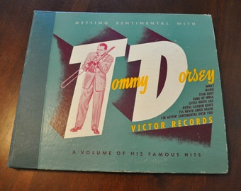 """Antique """"Getting Sentimental"""" with Tommy Dorsey Album Set"""