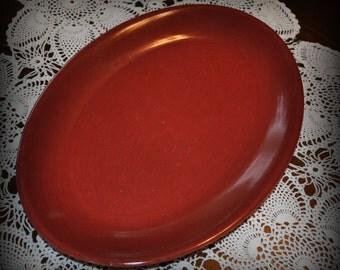 Casual California, Burgundy Vernonware Platter, 13 1/2 x 10 in.