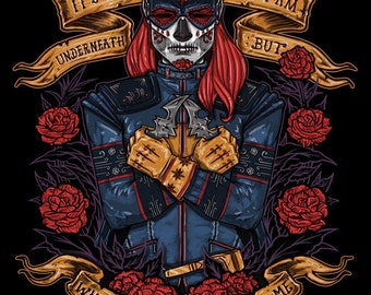 Day of the Dead Heroine, print