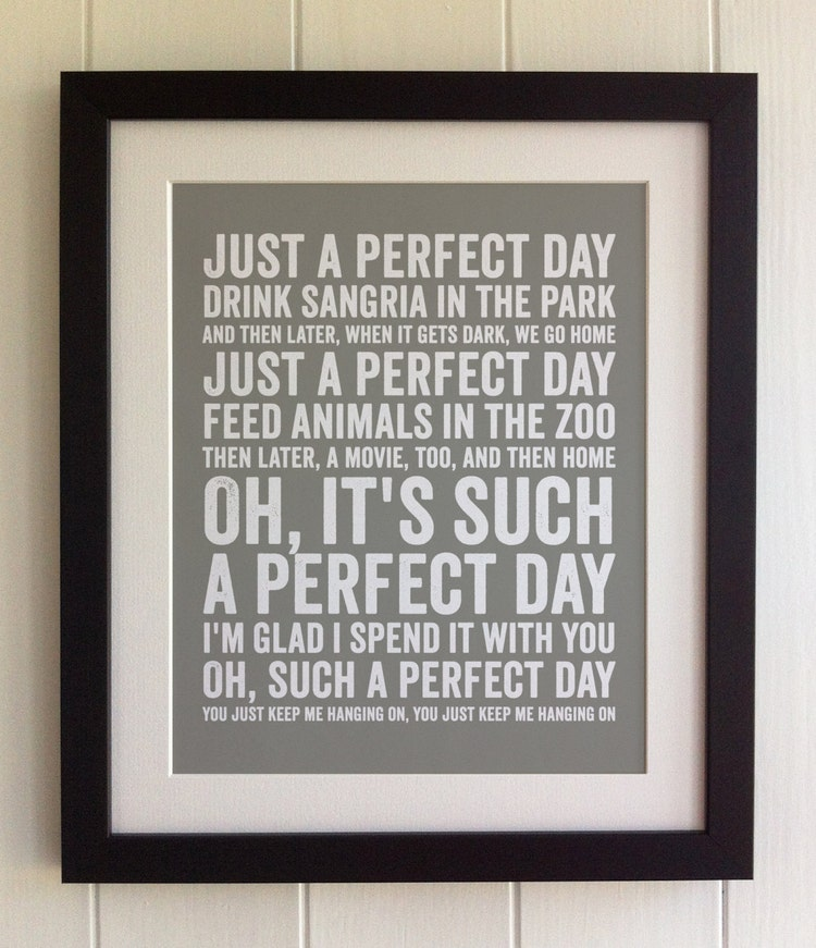 Lou Reed Perfect Day Text Cofuub