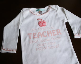 Teacher Baby Gift, Cute Baby Clothes Teacher, Teacher Baby Girl Bodysuit, Custom Baby Outfit,  Baby Shower Gift, Cute Baby Gift, Funny Baby