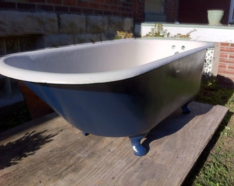 Vintage Antique Clawfoot Tub Original Porcelain By Almasfarmhouse