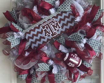 Texas A&M Wreath, Gig'Em Aggies