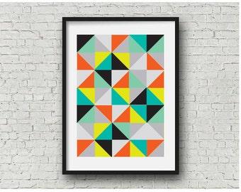 Abstract Geometric Pattern Print, geometric art, abstract print