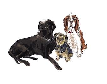 PET PORTRAIT: custom illustration of your pet - cat, dog, rabbit, hamster etc.