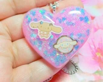 B Grade Cute Cinnamon Roll Pastel Kawaii Fairy Kei Necklace!