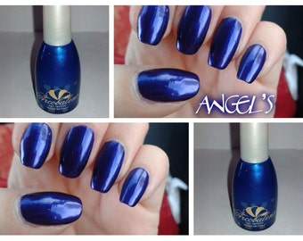 nail polish, long-lasting color ELECTRIC BLUE PEARL