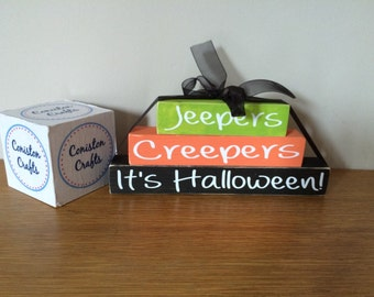 Halloween jeepers creepers Wooden Stacking Block